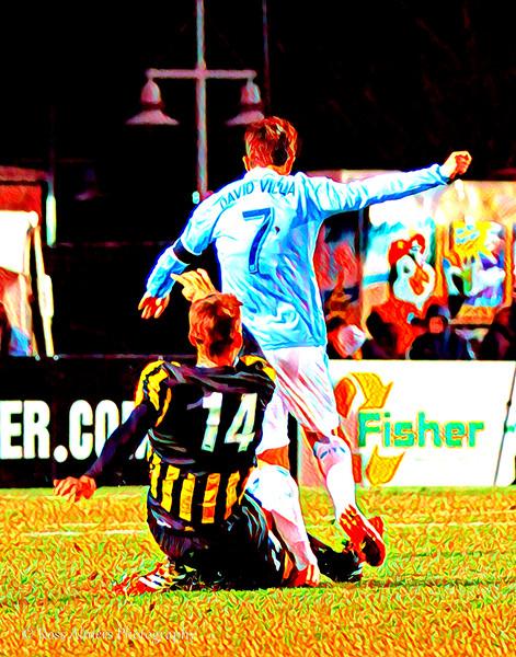 Villa and Van Schaik Soccer Art One