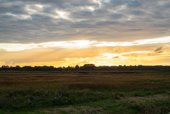 Sonnenuntergang südlich von Warnemünde.