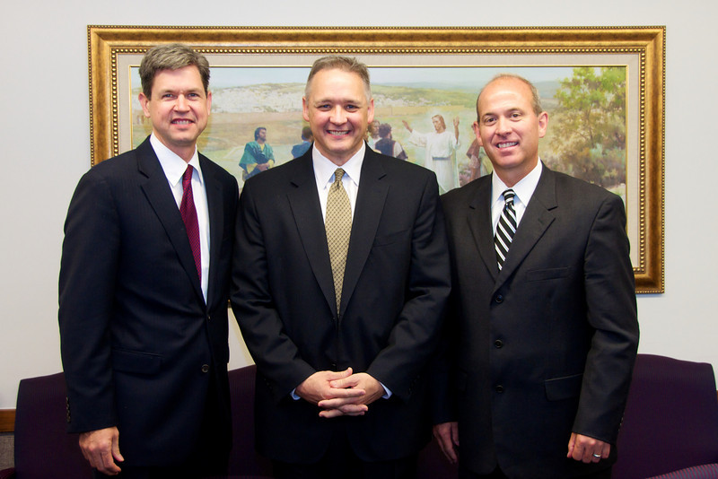 New Stake Presidency (Left to Right)<br /> <br /> David Winters (1st Counselor), Verne Ernst (President), Scott Mower (2nd Counselor)