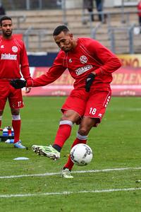 Alexis Weidenbach (Rot-Weiß Koblenz); Rot-Weiß Koblenz - Eintracht Trier (1:1) in Stadion Oberwerth, Koblenz; 25.11.18, Photo: Jan von Uxkull-Gyllenband