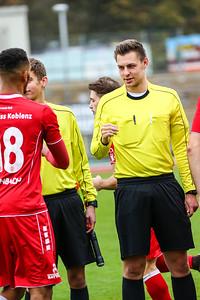 Jan Dennemärker; Rot-Weiß Koblenz - Eintracht Trier (1:1) in Stadion Oberwerth, Koblenz; 25.11.18, Photo: Jan von Uxkull-Gyllenband
