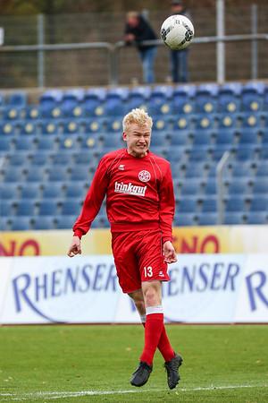 Markus Fritsch (Rot-Weiß Koblenz); Rot-Weiß Koblenz - Eintracht Trier (1:1) in Stadion Oberwerth, Koblenz; 25.11.18, Photo: Jan von Uxkull-Gyllenband