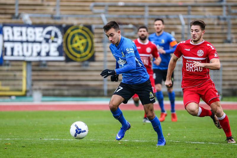 Ömer Hakki Kahyaoglu (Eintracht Trier); Rot-Weiß Koblenz - Eintracht Trier (1:1) in Stadion Oberwerth, Koblenz; 25.11.18, Photo: Jan von Uxkull-Gyllenband