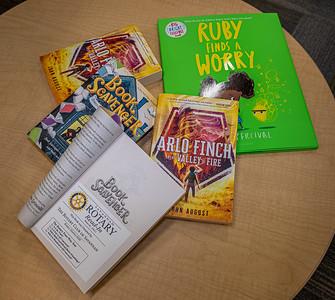 Savannah, GA, USA X-T2  Donation of books from Rotary Club of Savannah to Savannah Chatham County Public School System.