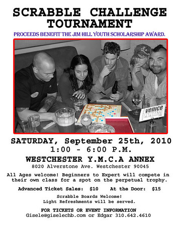 3rd Annual Scrabble Challenge Sept 25th 2010