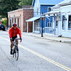 Riding up Spring Street in Nevada City