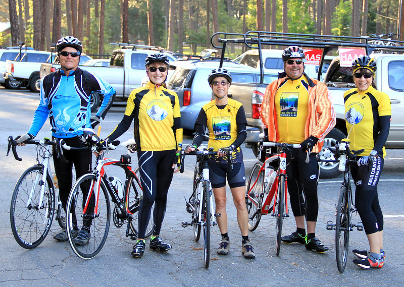 Before the Ride - At least one ran the Boston - Several did a triatholon recently - and now the Rotary Gold Gountry Challenge!