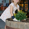 Mila Elms, daughter of Mike and Priscilla - Rotary Fall Barrel Planting - Morristown, NJ