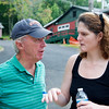 Terry Gallagher and Amanda Despertito discussing the finer points of something - Rotary District 7470 at Camp Merry Heart - ©David Shapiro 2011