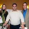 Phil Iossa of Florham Park with the Trek bicycle he won in the tricky tray raffle. With him are Catherine Brennan and Brendan Poh of Cycle Craft at the 10th Anniversary of Morristown Rotary's Taste of Morristown - ©David Shapiro 2012