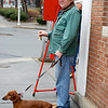 Morristown Rotarians bell ringing for the Salvation Army 12/08/12 - Francis Alai and his good friend Leo