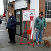 Morristown Rotarians bell ringing for the Salvation Army 12/08/12 - Rusty Schommer, Bob Coultas and Francis Alai