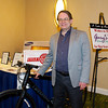 W. Jay Wanczyk of Pequannock Valley Rotary won the bike from Cycle Craft of Parsippany in the raffle - Taste of Morristown at the Hanover Marriott in Whippany, NJ - Photo by David Shapiro