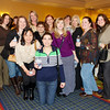Debbie Petrucci (center rear) of Morristown Rotary brought her friends to the Taste of Morristown - Taste of Morristown at the Hanover Marriott in Whippany, NJ - Photo by David Shapiro