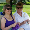 Cindy Zimmerman of Morris Twp and Cheryl Eggert of Morristown; hole in one observers.