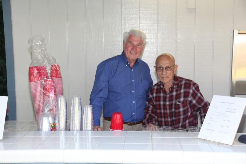 Dr Bill Annan and Miguel Cueva