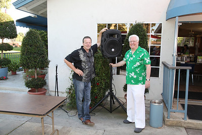 Scott Weimer brought the sound system.  Shown here with MC for the event, Don Alexander.