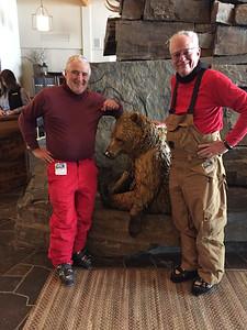 At the Moonlight Lodge. Rem Barnard and Al Morris