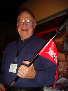New ISFR President Esio Marzotto with symbol of office. Photo courtesy of Marilyn Branch