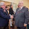 Jim Fusco congratulates Dan Cunningham at the Fitchburg Rotary Club meeting at Oak Hill Country Club on Tuesday evening. Cunningham would be installed as the new president later in the evening. SENTINEL & ENTERPRISE / Ashley Green