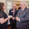 Dan Cunningham seaks with Susan Navarre and Jim Fusco at the Fitchburg Rotary Club meeting at Oak Hill Country Club on Tuesday evening. Cunningham would be installed as the new president later in the evening. SENTINEL & ENTERPRISE / Ashley Green