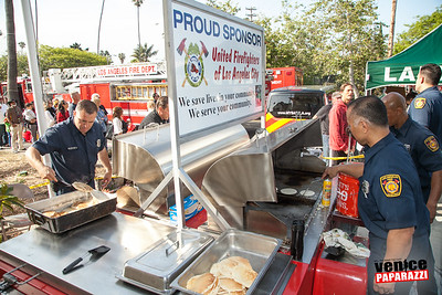 2015 Fire Station 63 Annual Pancake Breakfast.  Hosted by Rotary Club of Playa Venice Sunrise. www.playasunrise.org. Photo by www.VenicePaparazzi.com