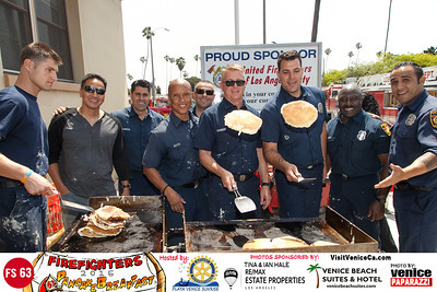 """2015 Fire Station 63 Annual Pancake Breakfast.  Hosted by Rotary Club of Playa Venice Sunrise. www.playasunrise.org. Photo by www.VenicePaparazzi.com"""