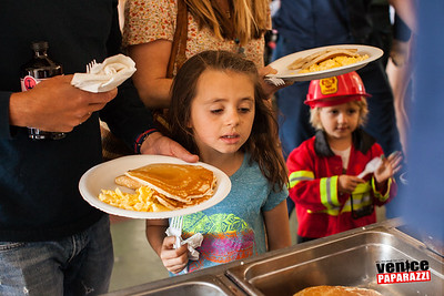 Fire Station 63's Pancake Breakfast.  Venice, California. Photo by VenicePaparazzi.com