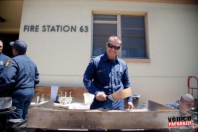 Fire Station 63's Pancake Breakfast. Venice, California.  Photo by VenicePaparazzi.com