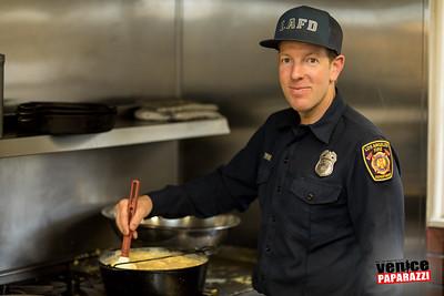 Fire Station 63 Pancake Breakfast.  Venice, CA.  Photo by @VenicePaparazzi
