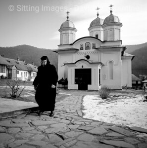 Cheia Monastary, Transylvania, Romania - January 1993