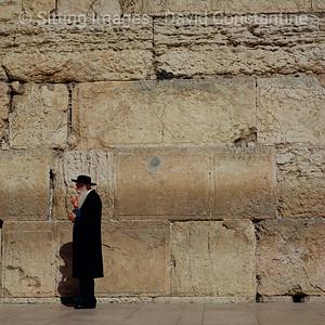 Wailing Wall, Jerusalem, Israel. September 1990