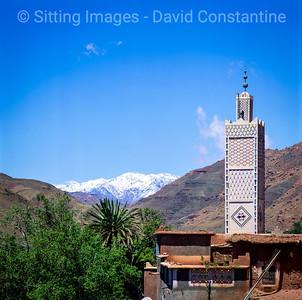 High Atlas mountains mosque, Morocco. May 2004