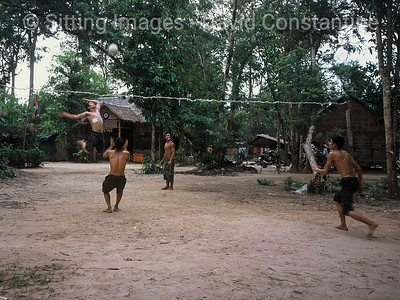Rural volleyball - Angkor Wat, Cambodia. January 1999