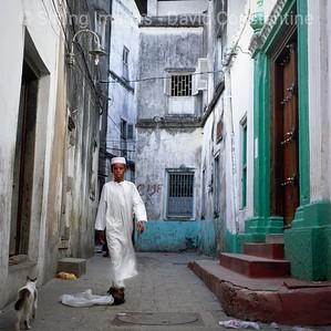 Muslim boy in street,  Stone Town, Zanzibar Island. Tanzania © David Constantine  / Axiom