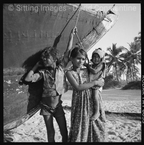Beach kids, Goa, India. December 1989