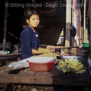 Girl cooking on street stall - May 2007