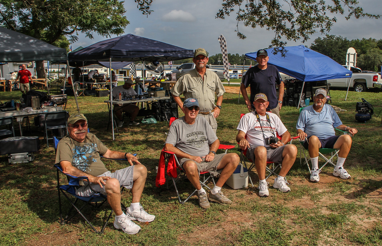 A few of the 60+ members of The Villages RC car club came out to check out the action.