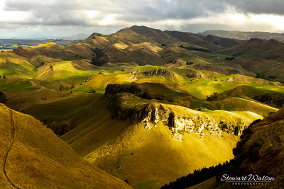 Looking down from the top of Te Mata Peak in Hawke's Bay