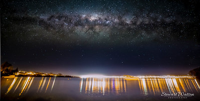 Milky way over Taupo township