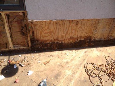 Rotten Soft Plywood Images - 2511 Highland Park IL - 2017