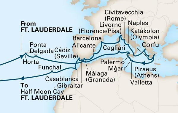 Transatlantic Roundtrip Ft Lauderdale Europe 42 Days