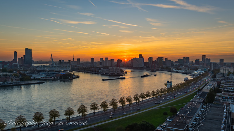 Sunset in Rotterdam