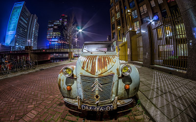 Old car in Rotterdam