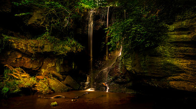 Magical location of Roughting Linn Waterfall.