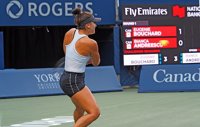 Round 1 Rogers Cup 2019  Eugenie Bouchard v. Bianca Andreescu