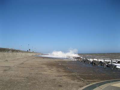 Breaking waves at Ness Point, Lowestoft