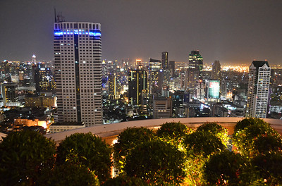 The nighttime view over Bangkok from the Lebua State Tower