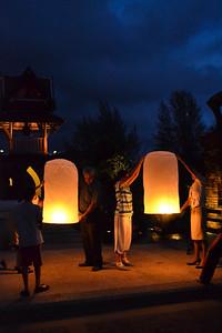Thai lantern ceremony