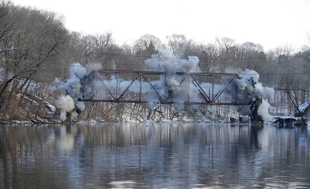 . Gov. Andrew Cuomo on Jan. 25, 2017, pushed the plunger to blow up the Route 213 bridge over the Rondout Creek in High Falls.